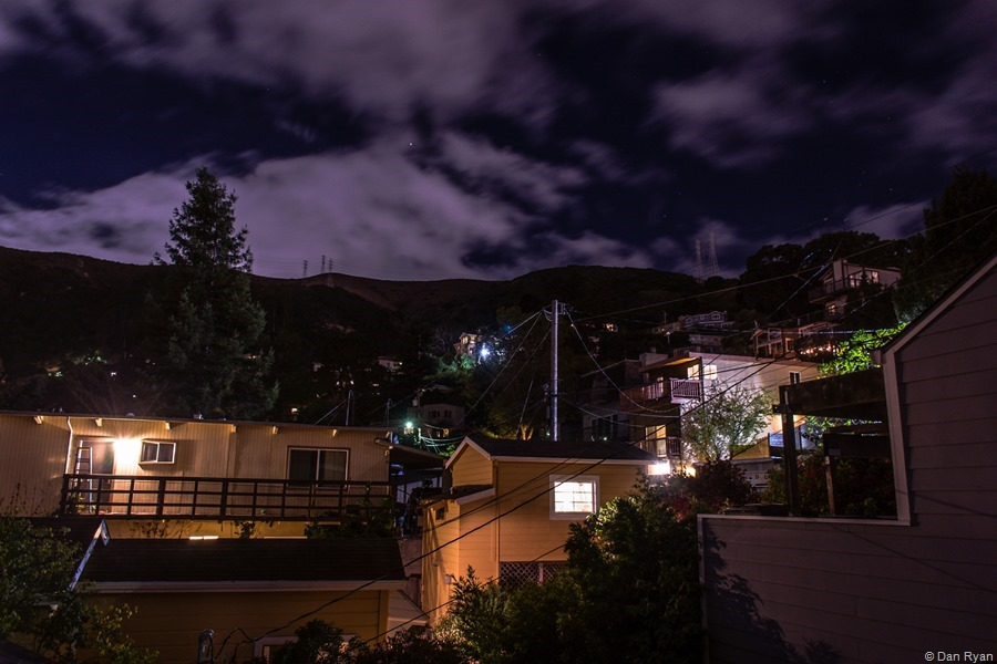 My neighborhood under nighttime sky... Brisbane, California 2018