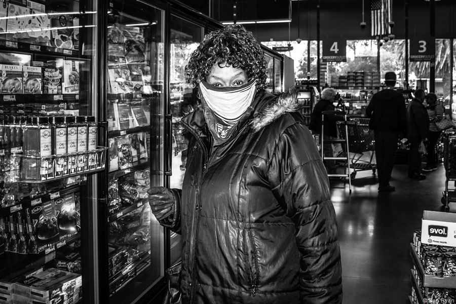 Dressed like the frozen food section is contagious Antarctica... San Francisco, California, March 2020